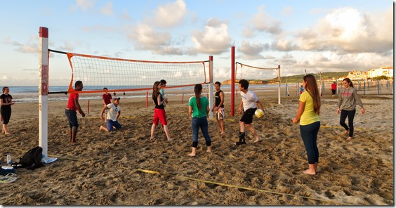 Volleyball with the youth group