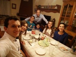 Dinner with Bells, another half-American, half-Spanish missionary family.