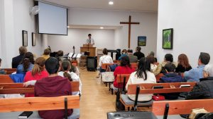 Preaching at the Gandia church