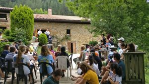 Regional church gathering at the Aierdi farmhouse